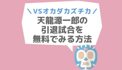 天龍源一郎の引退試合|動画・映画を無料で見る方法