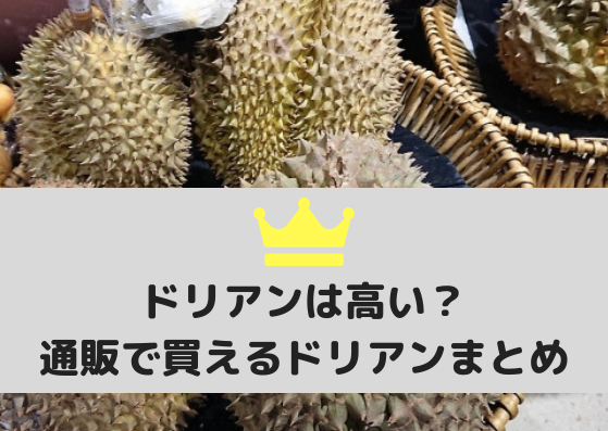 ドリアンは日本で買うと高い?値段の比較と通販で買える美味しい